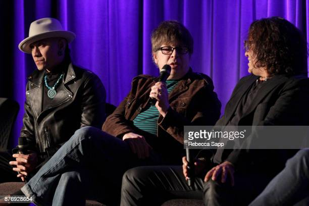 Musician Taboo musician Elliot Easton and executive producer Stevie Salas speaks onstage at Reel to Reel Rumble The Indians Who Rocked The World...