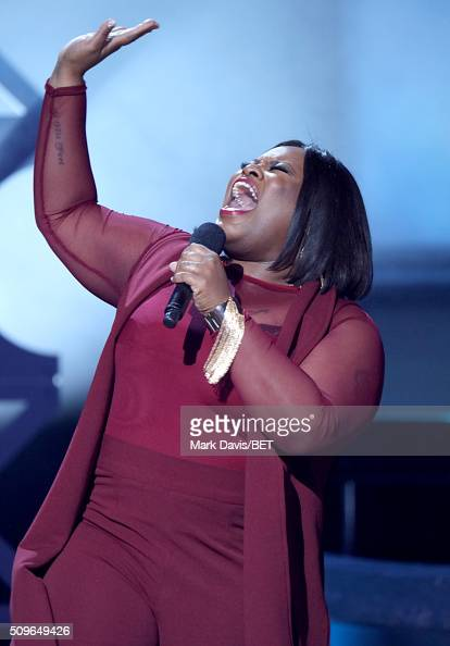 Musician Tasha Cobbs performs onstage during BET Celebration Of Gospel 2016 at Orpheum Theatre on January 9 2016 in Los Angeles California