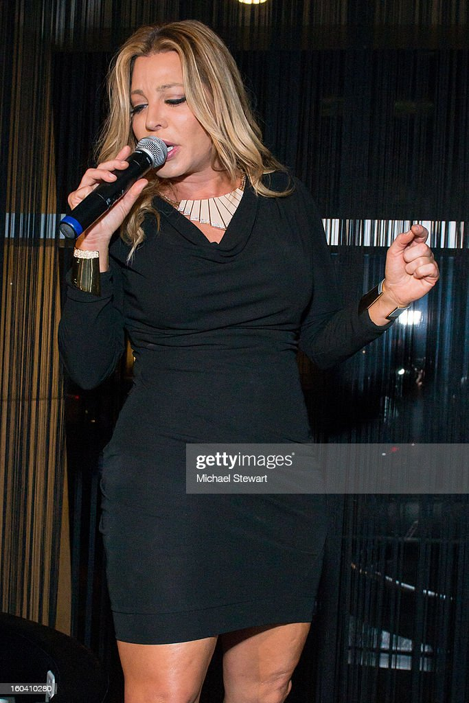 Musician Taylor Dayne performs at STK Midtown 1-Year Anniversary dinner party on January 30, 2013 in New York City.