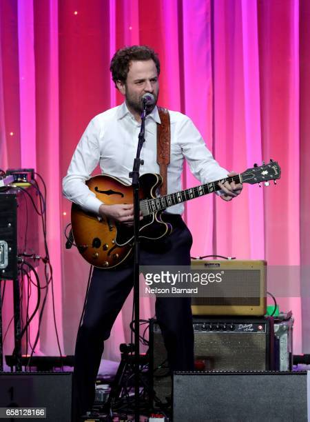 Musician Taylor Goldsmith of Dawes performs onstage at the Venice Family Clinic Silver Circle Gala 2017 honoring Sue Kroll and Dr Jimmy H Hara at The...