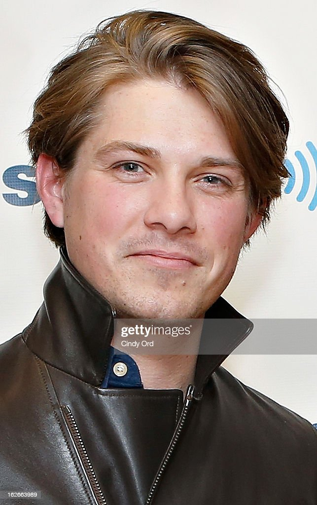 Musician <a gi-track='captionPersonalityLinkClicked' href=/galleries/search?phrase=Taylor+Hanson&family=editorial&specificpeople=210666 ng-click='$event.stopPropagation()'>Taylor Hanson</a> of Hanson visits the SiriusXM Studios on February 25, 2013 in New York City.