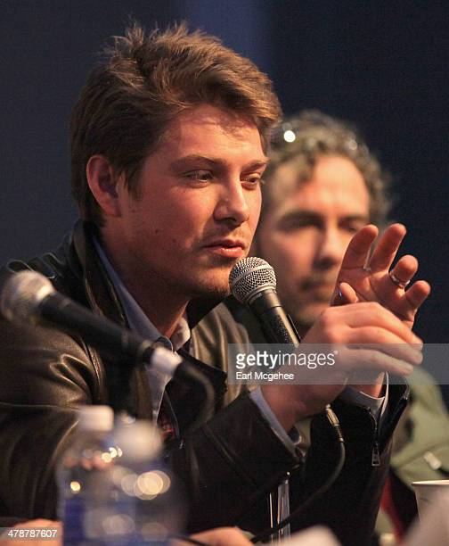 Musician Taylor Hanson speaks onstage at 'When to Tune Out the Trainwreck' during the 2014 SXSW Music Film Interactive Festival at Austin Convention...