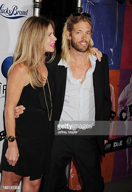 Musician Taylor Hawkins arrives at the 'CBGB' Special Screening at ArcLight Cinemas on October 1 2013 in Hollywood California