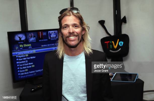 Musician Taylor Hawkins attends the I Can't Believe It's Not Butter 'Breakfast After Dark' Gift Lounge at The 28th Rock and Roll Hall of Fame...