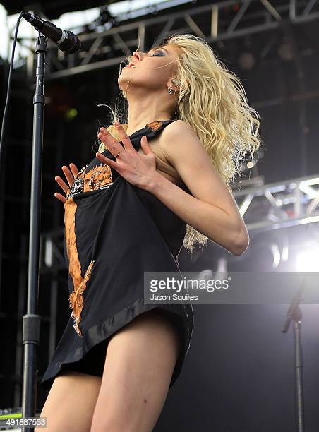 Musician Taylor Momsen of The Pretty Reckless performs during 2014 Rock On The Range at Columbus Crew Stadium on May 17 2014 in Columbus Ohio