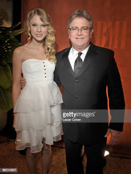 Musician Taylor Swift and BMI's Phil Graham attend BMI's 57th Annual Pop Awards held at The Beverly Wilshire Hotel on May 19 2009 in Beverly Hills...