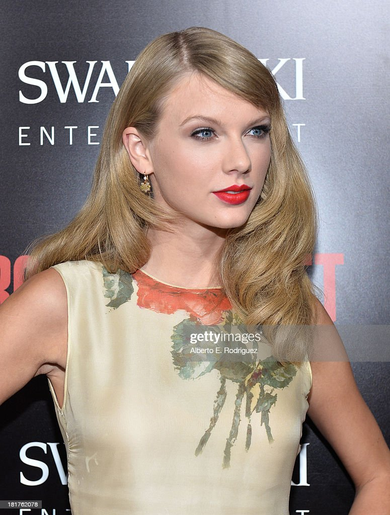 Musician <a gi-track='captionPersonalityLinkClicked' href=/galleries/search?phrase=Taylor+Swift&family=editorial&specificpeople=619504 ng-click='$event.stopPropagation()'>Taylor Swift</a> arrives at the premiere of Relativity Media's 'Romeo & Juliet' at ArcLight Hollywood on September 24, 2013 in Hollywood, California.