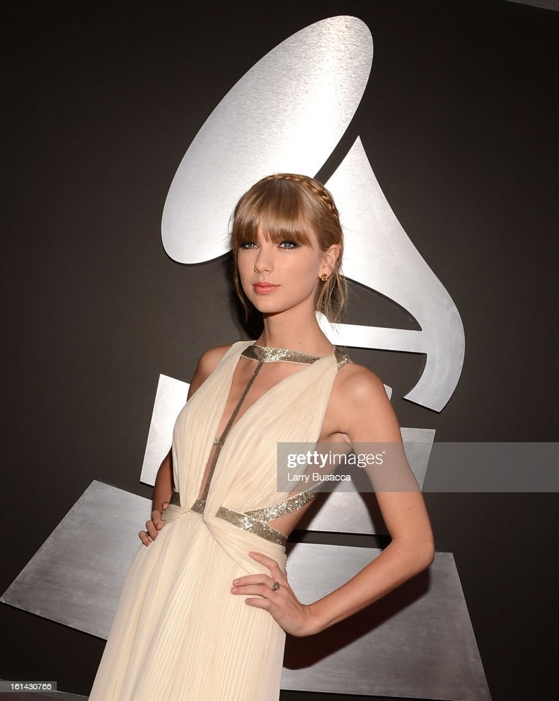 Musician <a gi-track='captionPersonalityLinkClicked' href=/galleries/search?phrase=Taylor+Swift&family=editorial&specificpeople=619504 ng-click='$event.stopPropagation()'>Taylor Swift</a> attends the 55th Annual GRAMMY Awards at STAPLES Center on February 10, 2013 in Los Angeles, California.