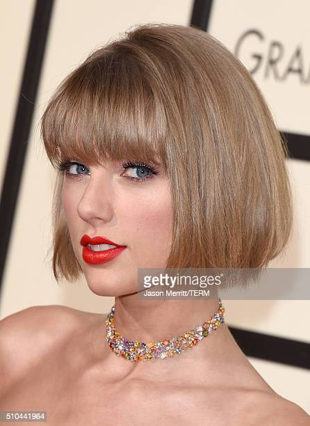 Musician Taylor Swift attends The 58th GRAMMY Awards at Staples Center on February 15 2016 in Los Angeles California