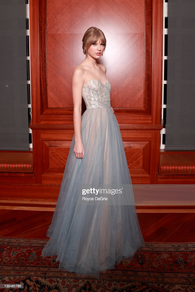 Musician <a gi-track='captionPersonalityLinkClicked' href=/galleries/search?phrase=Taylor+Swift&family=editorial&specificpeople=619504 ng-click='$event.stopPropagation()'>Taylor Swift</a> attends the annual Nashville Symphony Ball at the Schermerhorn Symphony Center on December 10, 2011 in Nashville, Tennessee. Swift, a 4-time GRAMMY winner, was honored with the Nashville Symphony's prestigious Harmony Award, recognizing her for exemplifying the unique harmony between the many worlds of music that exist in Nashville, and her significant contributions to the development and appreciation of musical culture. Earlier this month Swift was feted by Billboard magazine as their 2011 Woman of the Year, the youngest artist ever to receive this top honor. Last month she won Artist of the Year at the American Music Awards and was named Entertainer of the Year by the Country Music Association.