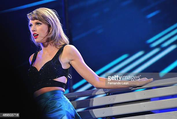 Musician Taylor Swift performs onstage at Sprint Center on September 21 2015 in Kansas City Missouri