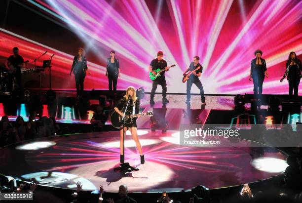 Musician Taylor Swift performs onstage during the 2017 DIRECTV NOW Super Saturday Night Concert at Club Nomadic on February 4 2017 in Houston Texas