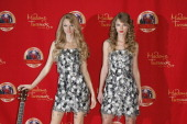 Musician Taylor Swift unveils her wax figure at Madame Tussauds on October 27 2010 in New York City