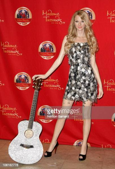 Musician Taylor Swift's wax figure on display at Madame Tussauds on October 27 2010 in New York City