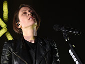 Musician Tegan Quin of Tegan and Sara performs onstage at the Hollywood Palladium on November 18 2014 in Hollywood California