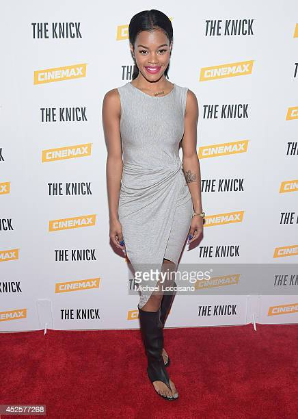 Musician Teyana Taylor attends the Cinemax screening panel and reception for 'The Knick' on July 23 2014 in New York City