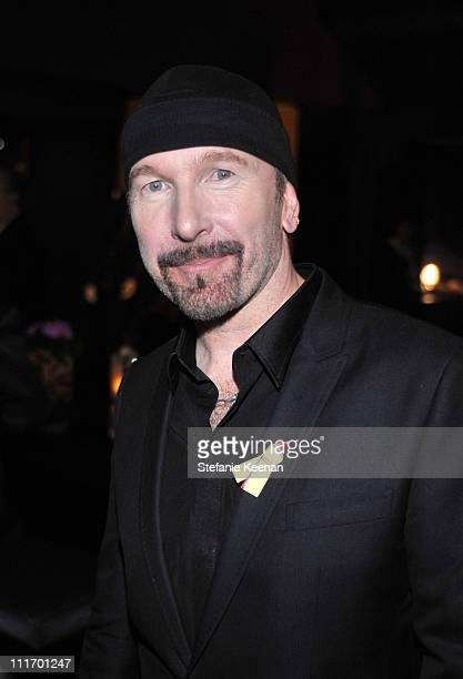 Musician The Edge attends the Weinstein Company Golden Globes after party cohosted by Martini held at BAR 210 at The Beverly Hilton Hotel on January...