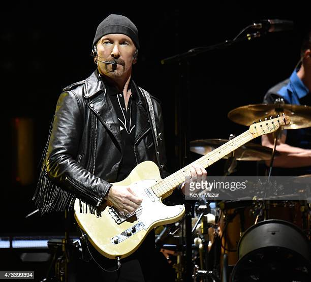 Musician The Edge of U2 performs onstage during the U2 iNNOCENCE eXPERIENCE tour opener in Vancouver at Rogers Arena on May 14 2015 in Vancouver...