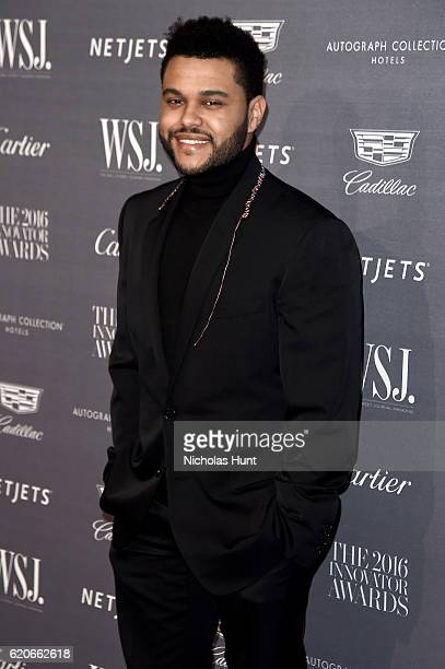 Musician The Weeknd attends the WSJ Magazine 2016 Innovator Awards at Museum of Modern Art on November 2 2016 in New York City