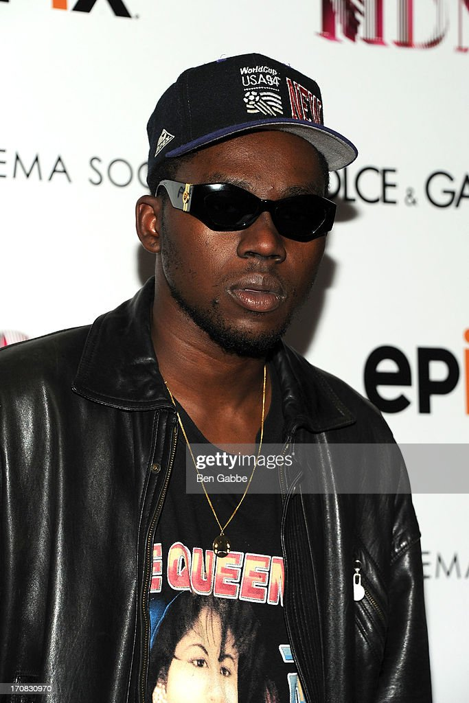 Musician <a gi-track='captionPersonalityLinkClicked' href=/galleries/search?phrase=Theophilus+London&family=editorial&specificpeople=5770992 ng-click='$event.stopPropagation()'>Theophilus London</a> attends the Dolce & Gabbana and The Cinema Society screening of the Epix World premiere of 'Madonna: The MDNA Tour' at The Paris Theatre on June 18, 2013 in New York City.