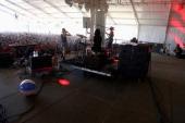 Musician Theresa Wayman Jenny Lee Lindberg Emily Kokal and Stella Mozgawa of Warpaint performs onstage at This Tent during day 4 of the 2014 Bonnaroo...