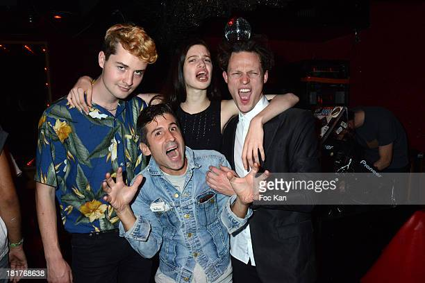 Musician Thom Rhoades Andre Saraiva model Lily McMenamy and Singer Tom Burke attend the 'Haute Performance' By Andre Saraiva After Party At Le Baron...