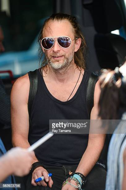Musician Thom Yorke leaves his Noho hotel on July 27 2016 in New York City