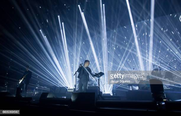 Musician Thom Yorke of Radiohead performs at Sprint Center on April 5 2017 in Kansas City Missouri