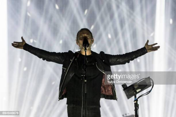 Musician Thom Yorke of Radiohead performs on the stage on Northside Festival on June 11 2017 in Aarhus Denmark