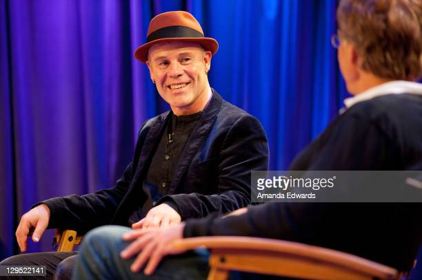 Musician Thomas Dolby and GRAMMY Musuem Executive Director Bob Santelli participate in 'An Evening With Thomas Dolby' at The GRAMMY Museum on October...
