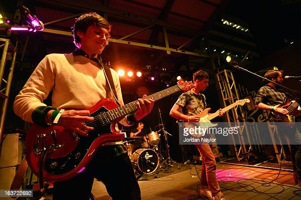 Musician Thomas Fekete of Surfer Blood performs onstage at the Warner Bros Music Showcase during the 2013 SXSW Music Film Interactive Festival at The...