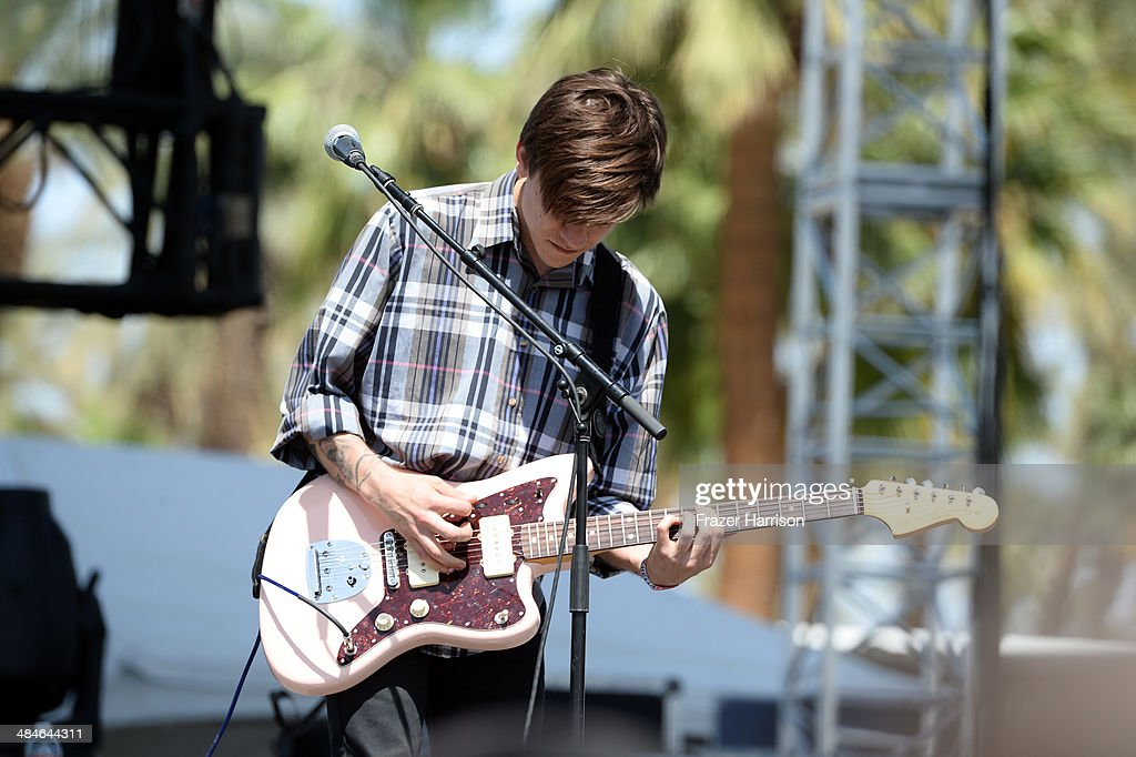 Musician Thomas Fekete of Surfer Blood performs onstage during day 3 of the 2014 Coachella Valley Music & Arts Festival at the Empire Polo Club on April 13, 2014 in Indio, California.