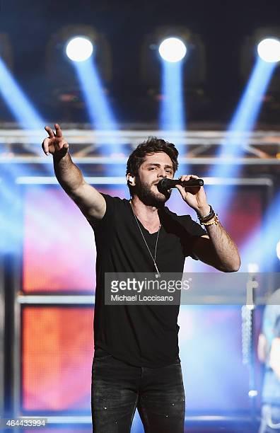Musician Thomas Rhett performs at Madison Square Garden on February 25 2015 in New York City