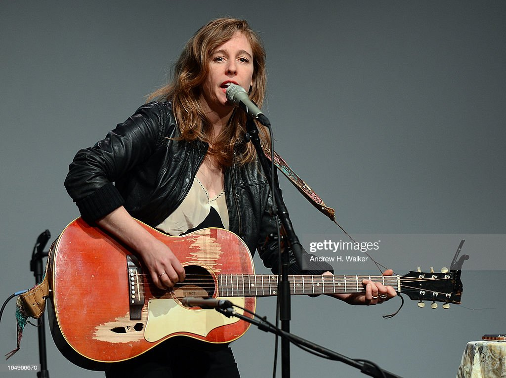 Musician Tift Merritt performs at Meet the Musicians at the Apple Store Soho on March 29, 2013 in New York City.