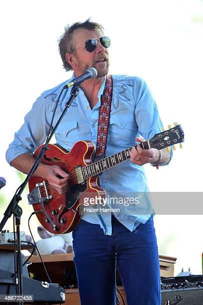 Musician Tim Bluhm of Nicki Bluhm The Gramblers performs onstage during day 1 of 2014 Stagecoach California's Country Music Festival at the Empire...