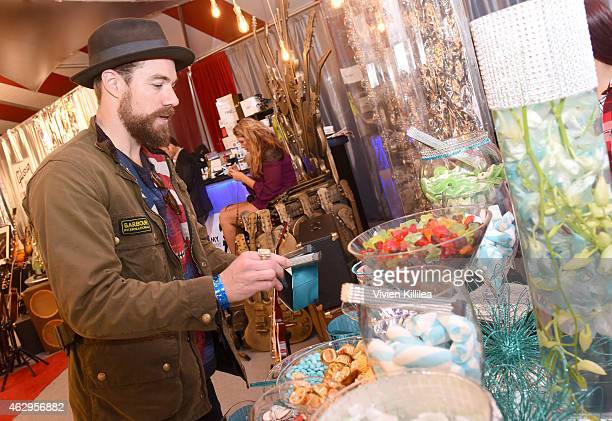Musician Tim G Lopez of Plain White T's attends the GRAMMY gift lounge during The 57th Annual GRAMMY Awards at the Staples Center on February 7 2015...