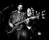 Musician Tim Lopez and Tom Higgenson of the Plain White T's perform at the Grove's Summer Concert Series on July 6 2016 in Los Angeles California