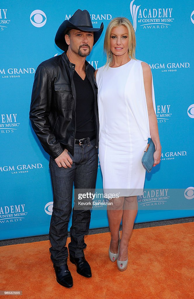 Musician <a gi-track='captionPersonalityLinkClicked' href=/galleries/search?phrase=Tim+McGraw&family=editorial&specificpeople=202845 ng-click='$event.stopPropagation()'>Tim McGraw</a> and singer <a gi-track='captionPersonalityLinkClicked' href=/galleries/search?phrase=Faith+Hill&family=editorial&specificpeople=175933 ng-click='$event.stopPropagation()'>Faith Hill</a> arrive for the 45th Annual Academy of Country Music Awards at the MGM Grand Garden Arena on April 18, 2010 in Las Vegas, Nevada.