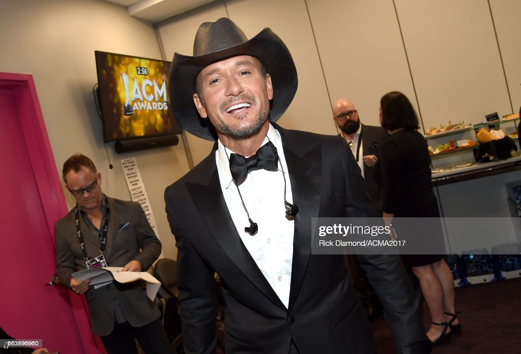 Musician Tim McGraw attends the 52nd Academy Of Country Music Awards at T-Mobile Arena on April 2, 2017 in Las Vegas, Nevada.