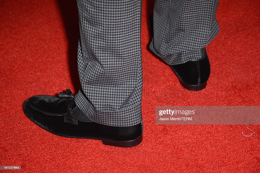 Musician Timbaland (shoe detail) joins mPowering Action, a global mobile youth movement at Grammy Week launch, featuring performances by Timbaland and Avicii at The Conga Room at L.A. Live on February 8, 2013 in Los Angeles, California.