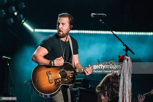 Musician TJ Osborne of Brothers Osborne performs at Nissan Stadium during day 4 of the 2017 CMA Music Festival on June 11 2017 in Nashville Tennessee