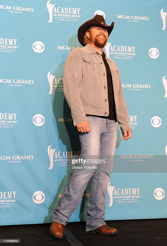 Musician Toby Keith poses in the press room during the 45th Annual Academy of Country Music Awards at the MGM Grand Garden Arena on April 18, 2010 in Las Vegas, Nevada.