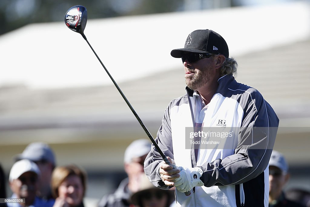 Musician <a gi-track='captionPersonalityLinkClicked' href=/galleries/search?phrase=Toby+Keith&family=editorial&specificpeople=204525 ng-click='$event.stopPropagation()'>Toby Keith</a> tees off on the 1st hole during the 3M Celebrity Challenge prior to the AT&T Pebble Beach National Pro-Am at Pebble Beach Golf Links on February 10, 2016 in Pebble Beach, California.