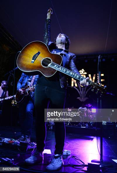 Musician Tom Higgenson of the Plain White T's performs onstage at Citi presents Plain White T's at The Grove's 2016 Summer Concert Series at The...