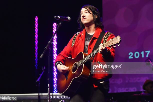 Musician Tom Higgenson performs onstage at the ASCAP Annual Membership Meeting and EXPO Kickoff during the 2017 ASCAP 'I Create Music' EXPO on April...