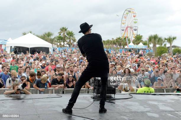 Musician Tom Howie of the band Bob Moses performs at Fitz's Stage during 2017 Hangout Music Festival on May 21 2017 in Gulf Shores Alabama