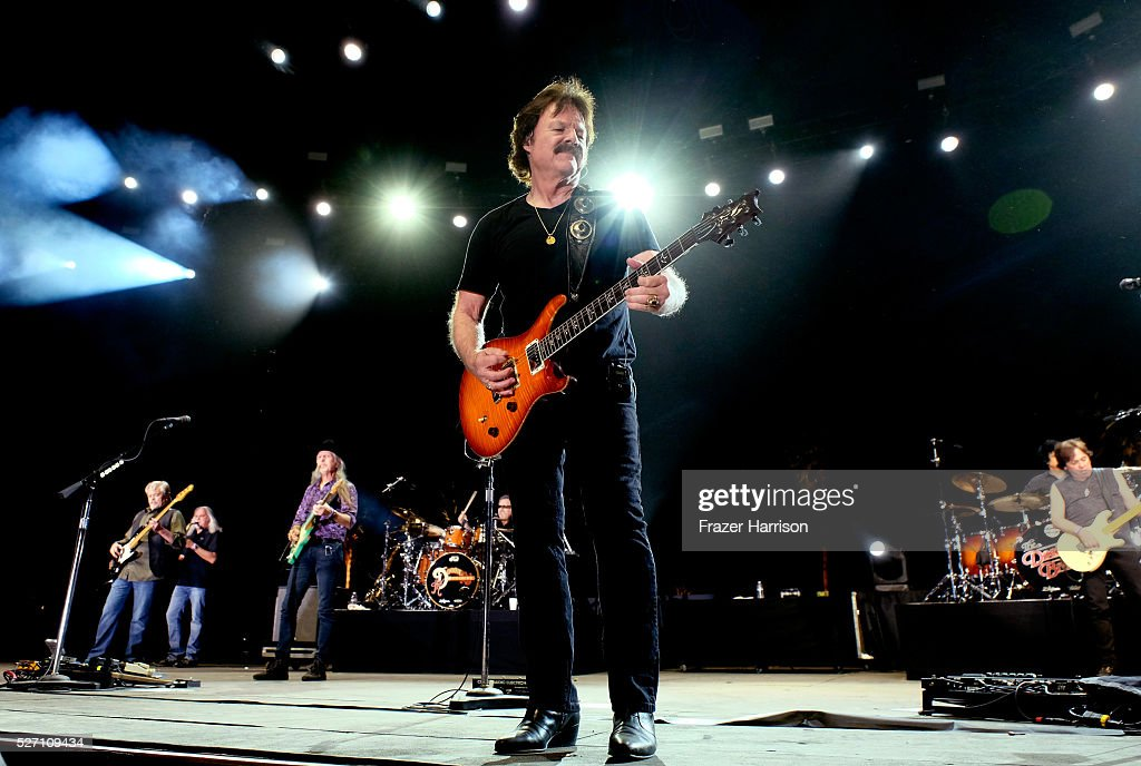 Musician <a gi-track='captionPersonalityLinkClicked' href=/galleries/search?phrase=Tom+Johnston&family=editorial&specificpeople=6487183 ng-click='$event.stopPropagation()'>Tom Johnston</a> performs onstage with The Doobie Brothers during 2016 Stagecoach California's Country Music Festival at Empire Polo Club on May 01, 2016 in Indio, California.