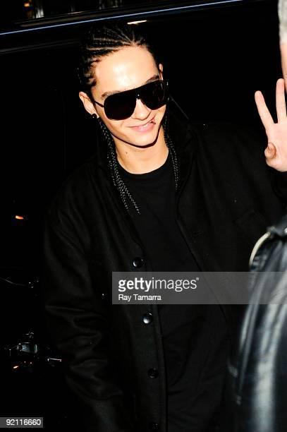Musician Tom Kaulitz of Tokio Hotel enters Best Buy on October 20 2009 in New York City