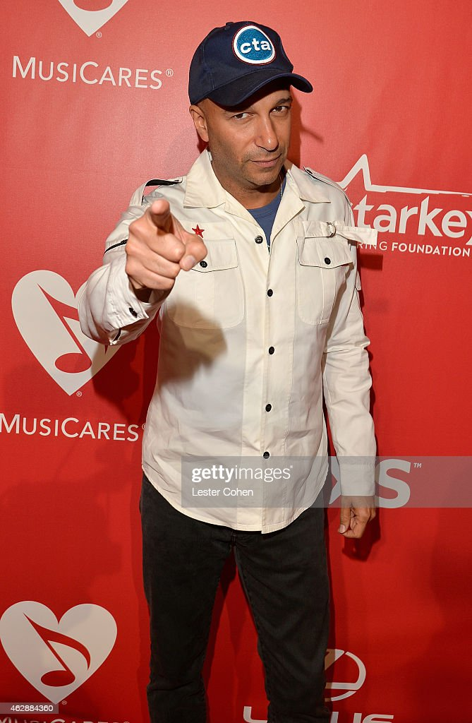 Musician Tom Morello attends the 25th anniversary MusiCares 2015 Person Of The Year Gala honoring Bob Dylan at the Los Angeles Convention Center on February 6, 2015 in Los Angeles, California. The annual benefit raises critical funds for MusiCares' Emergency Financial Assistance and Addiction Recovery programs. For more information visit musicares.org.