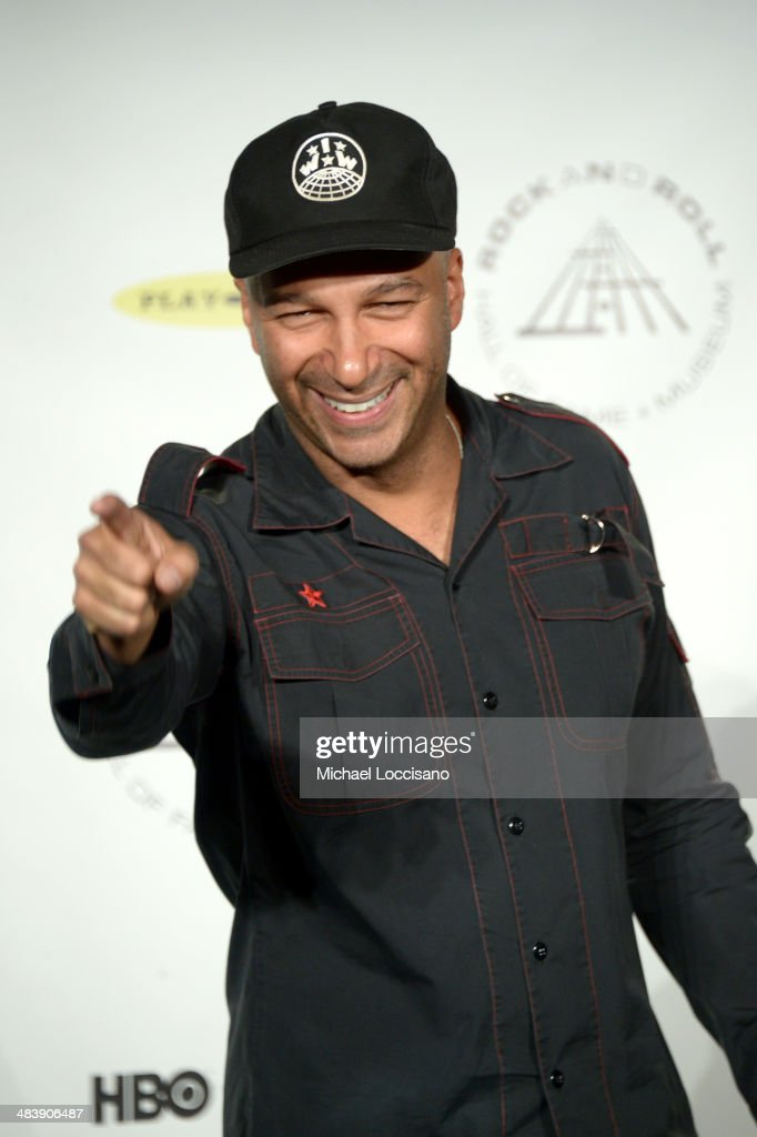 Musician <a gi-track='captionPersonalityLinkClicked' href=/galleries/search?phrase=Tom+Morello&family=editorial&specificpeople=2133151 ng-click='$event.stopPropagation()'>Tom Morello</a> attends the 29th Annual Rock And Roll Hall Of Fame Induction Ceremony at Barclays Center of Brooklyn on April 10, 2014 in New York City.